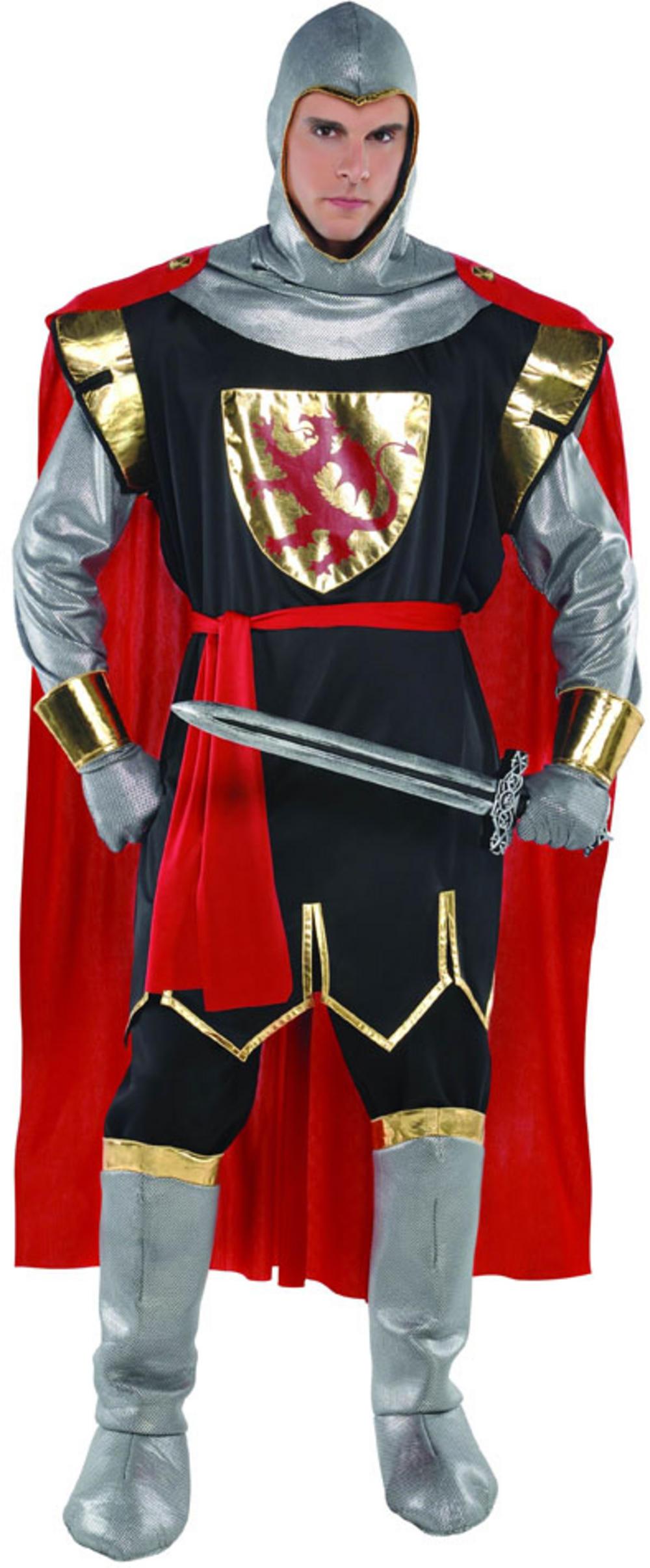 Mens Brave Crusader Knight Fancy Dress Costume