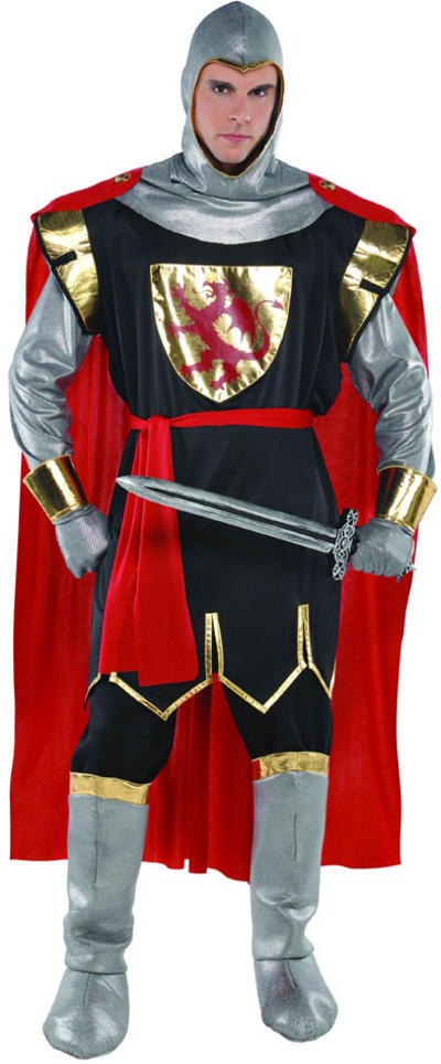 Men's Brave Crusader Knight Fancy Dress Costume