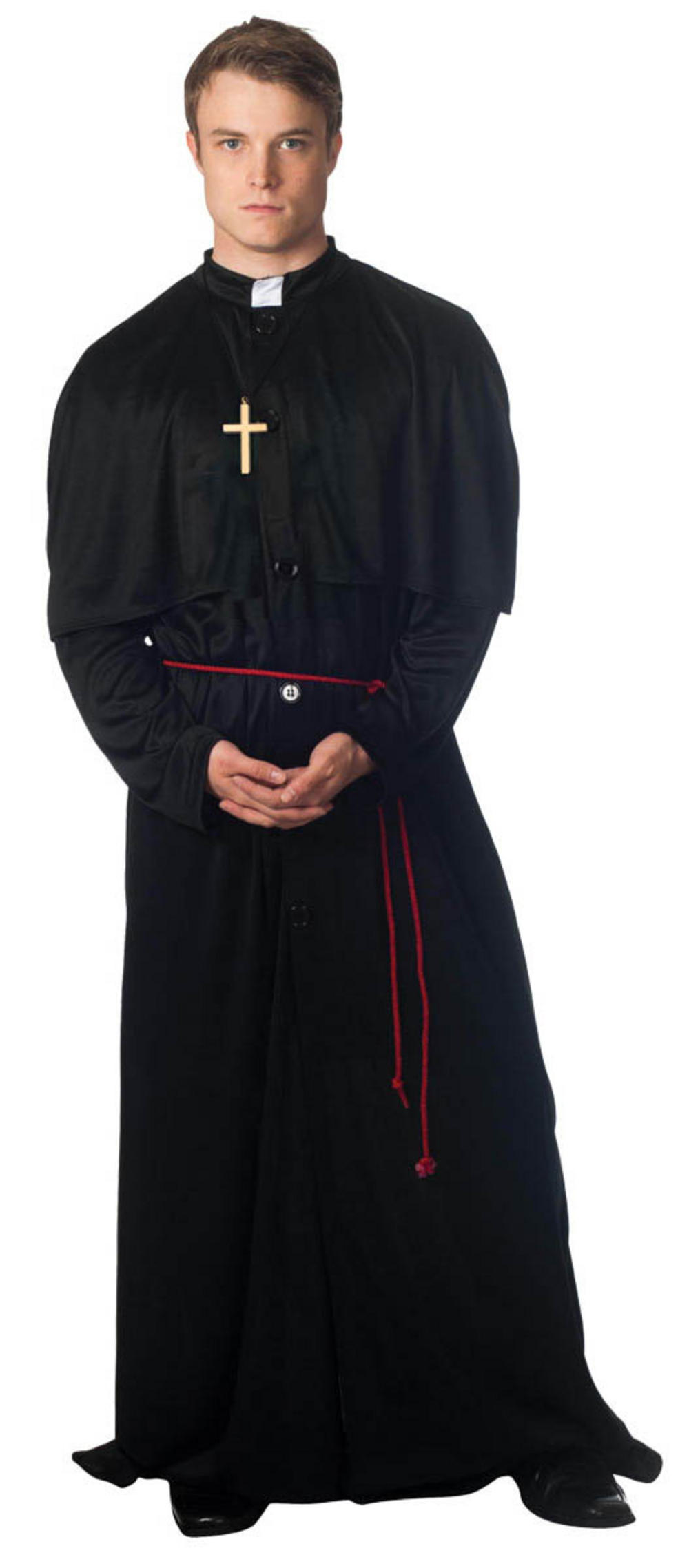 Men's Holy-er Than Thou Priest Fancy Dress Costume