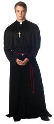 Mens Holy-er Than Thou Priest Fancy Dress Costume