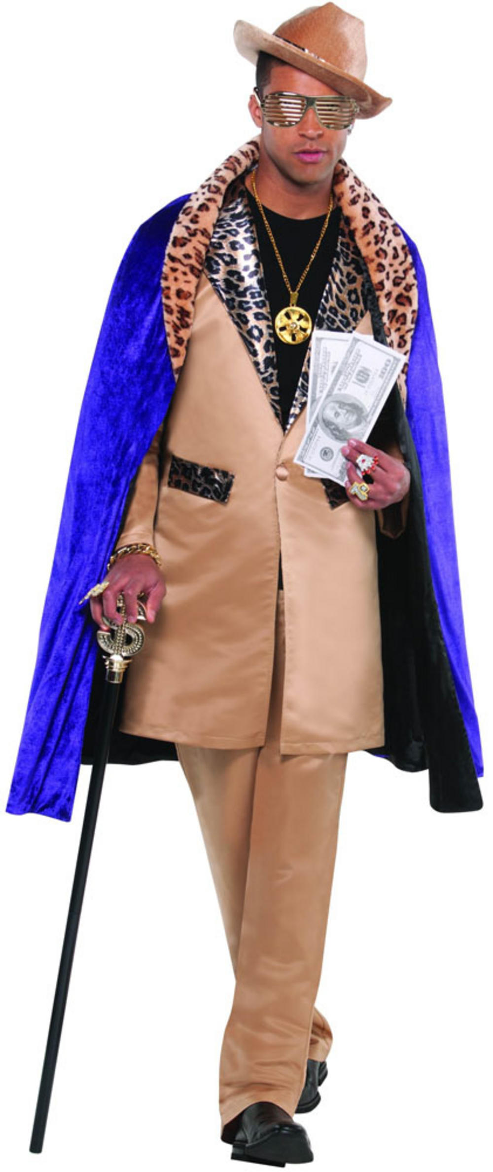 Men's Beige Playa Pimp Fancy Dress Costume