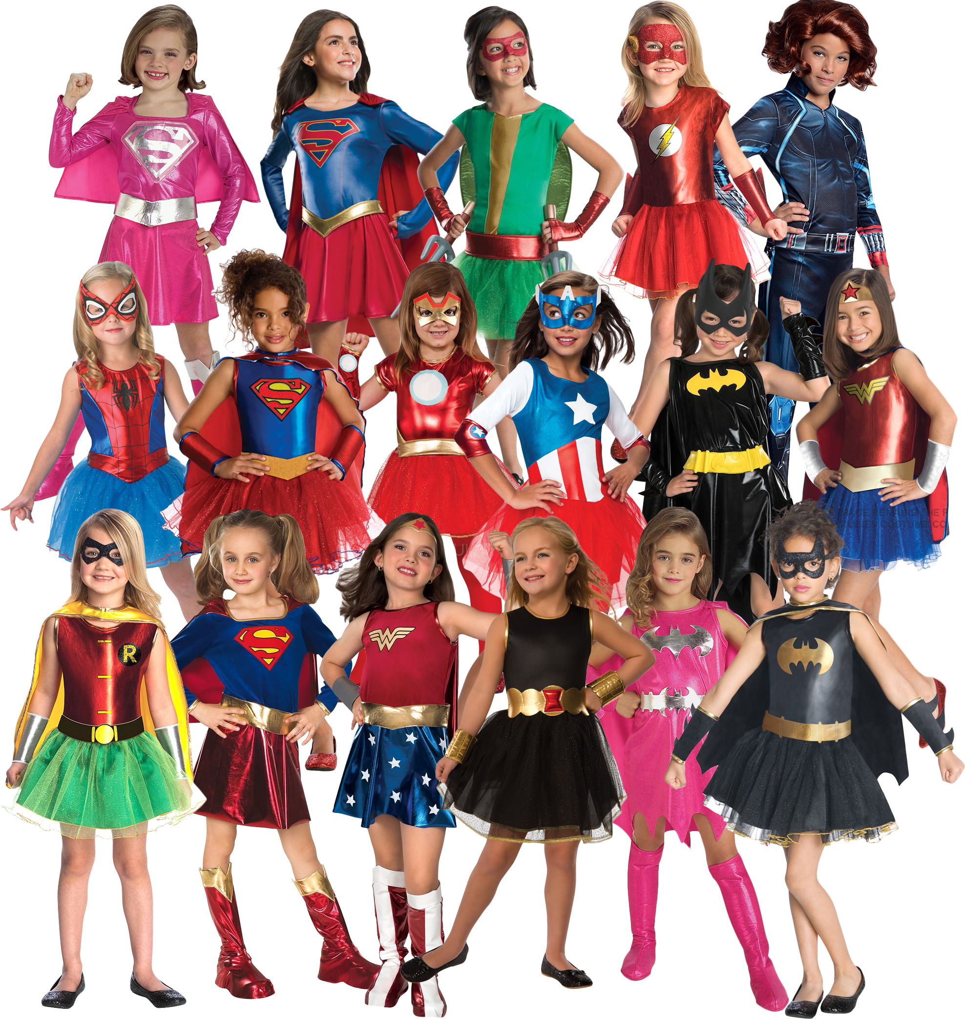 Superhero Kid Girls Supergirl Costume Fancy Dress Party Outfit Cover Xmas Gift c