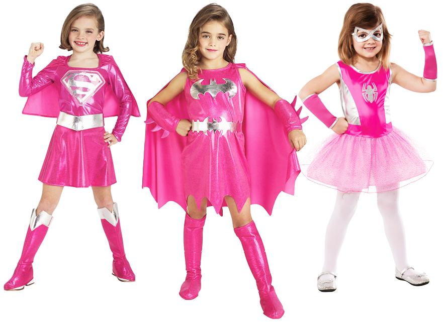 Sentinel Pink Superhero Girls Fancy Dress Marvel DC Comic Book Hero Kids Childs Costume  sc 1 st  eBay & Pink Superhero Girls Fancy Dress Marvel DC Comic Book Hero Kids ...