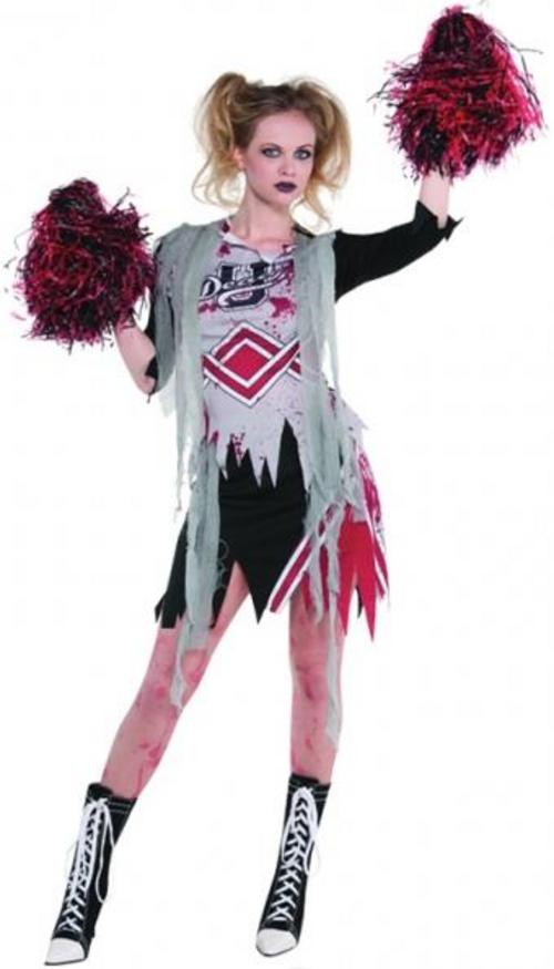 Cheerless Zombie Halloween Costume + Poms Poms!
