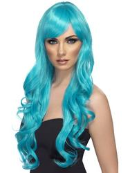 Aqua Desire Long Curly Wig