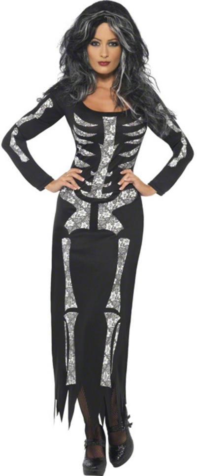Skeleton Tube Dress Costume