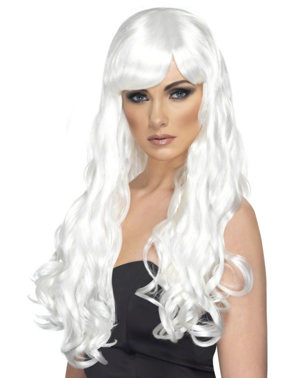 Desire White Long Curly Wig  257e87b4a621