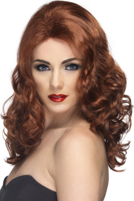 Auburn Glamour Wavy Wig