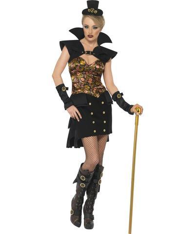 Steam Punk Victorian Sexy Vampiress Costume