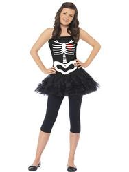 Girls Teen Skeleton Tutu Halloween Dress
