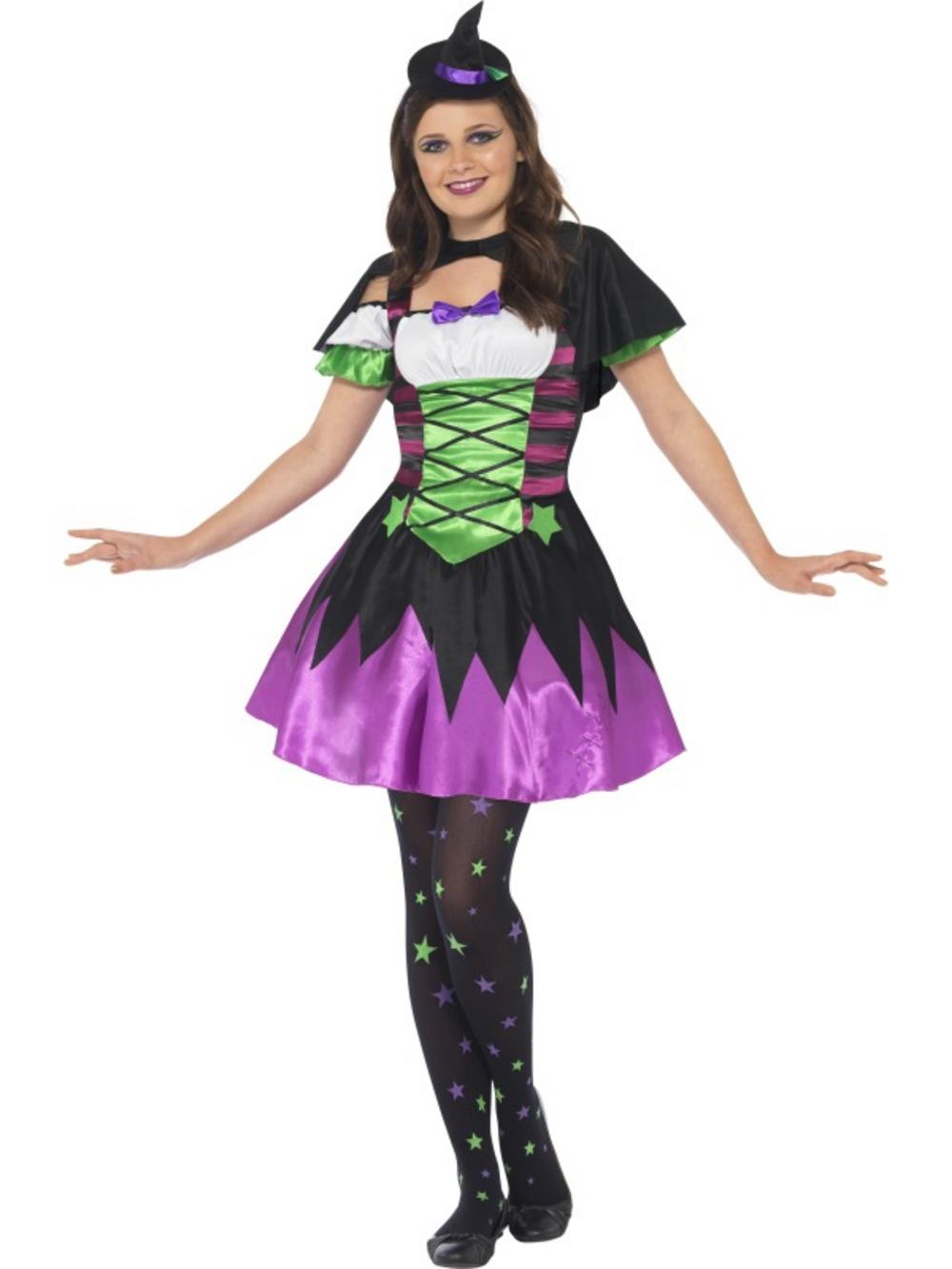 Punky Neon Witch Costume