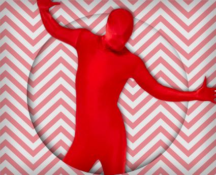 Rote und Weiße Karneval Kostüme