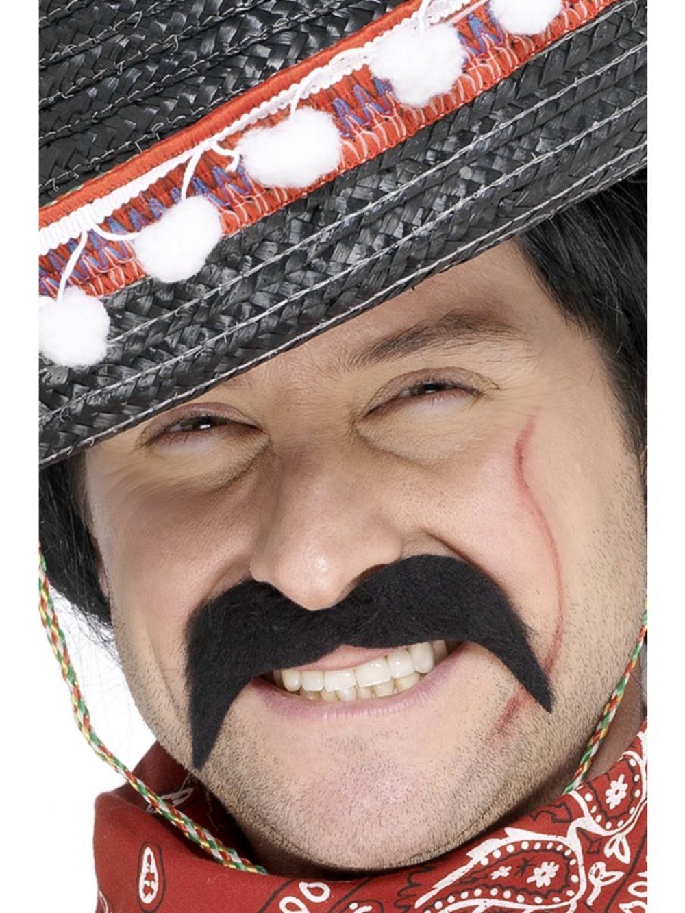 Adults Mexican Bandit Moustache Fancy Dress Accessory