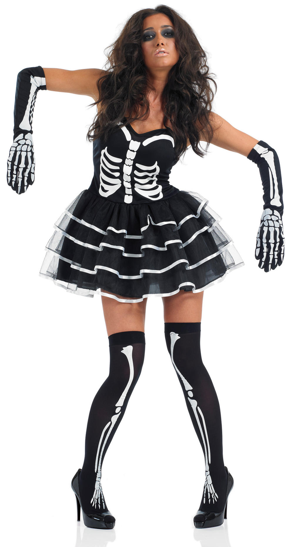 Skeleton Tutu Dress Halloween Costume