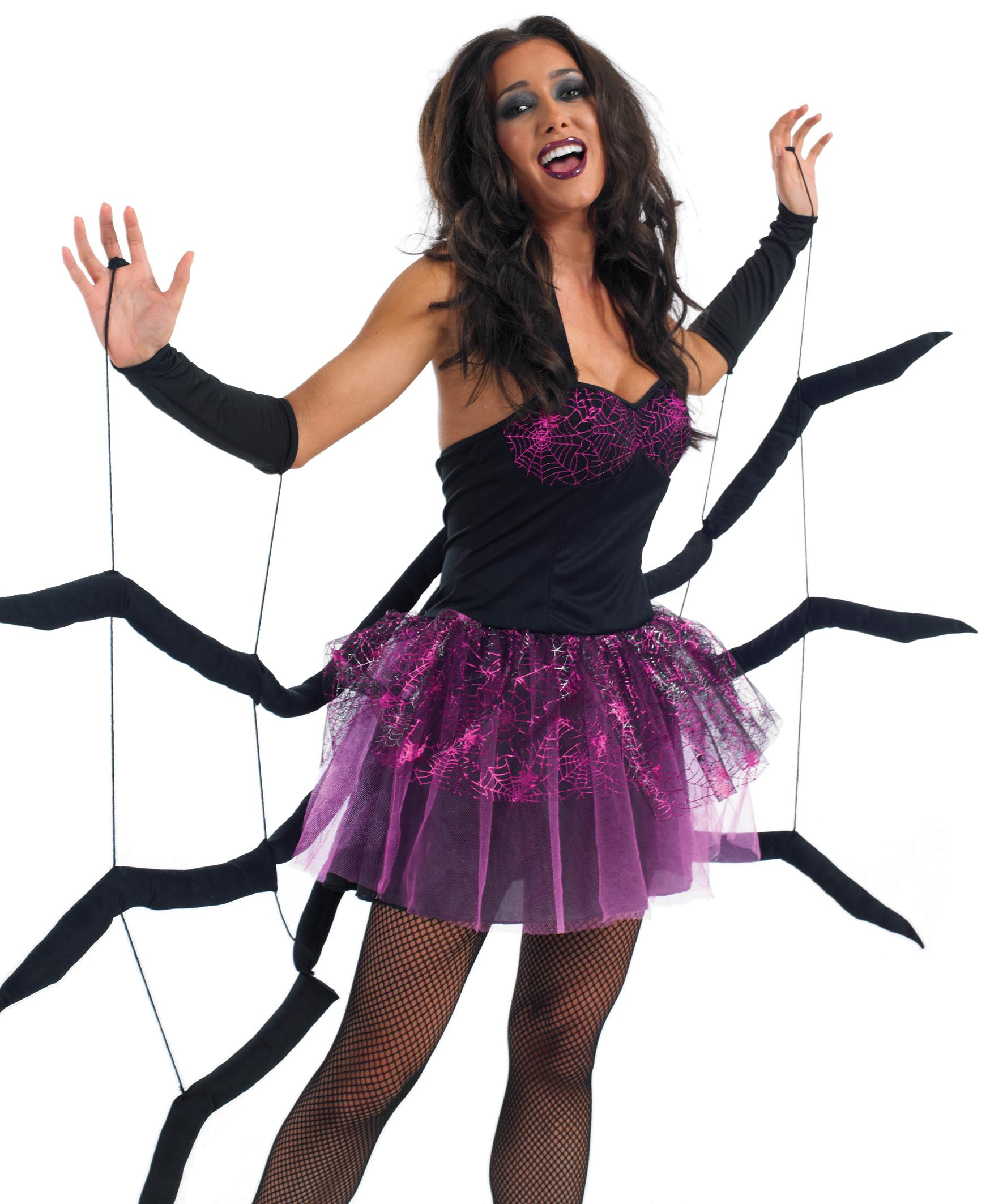Ladies Black Widow Spider Fancy Dress Costume | All Ladies Halloween ...