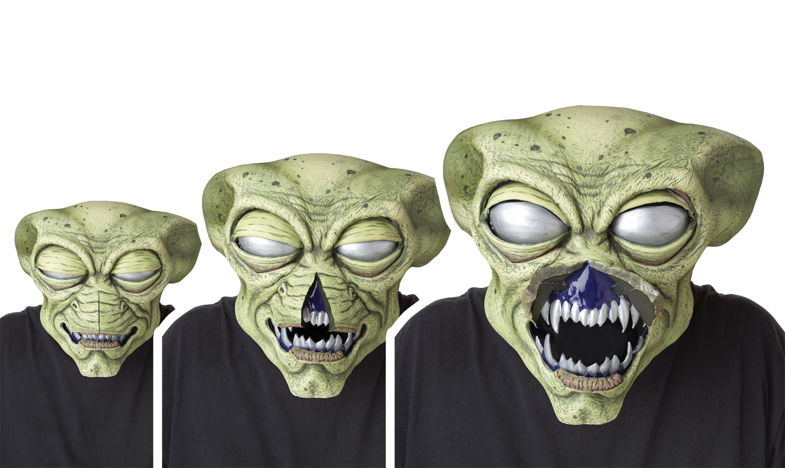 Alien Visitor AniMotion Halloween Mask | Halloween Make Up ...