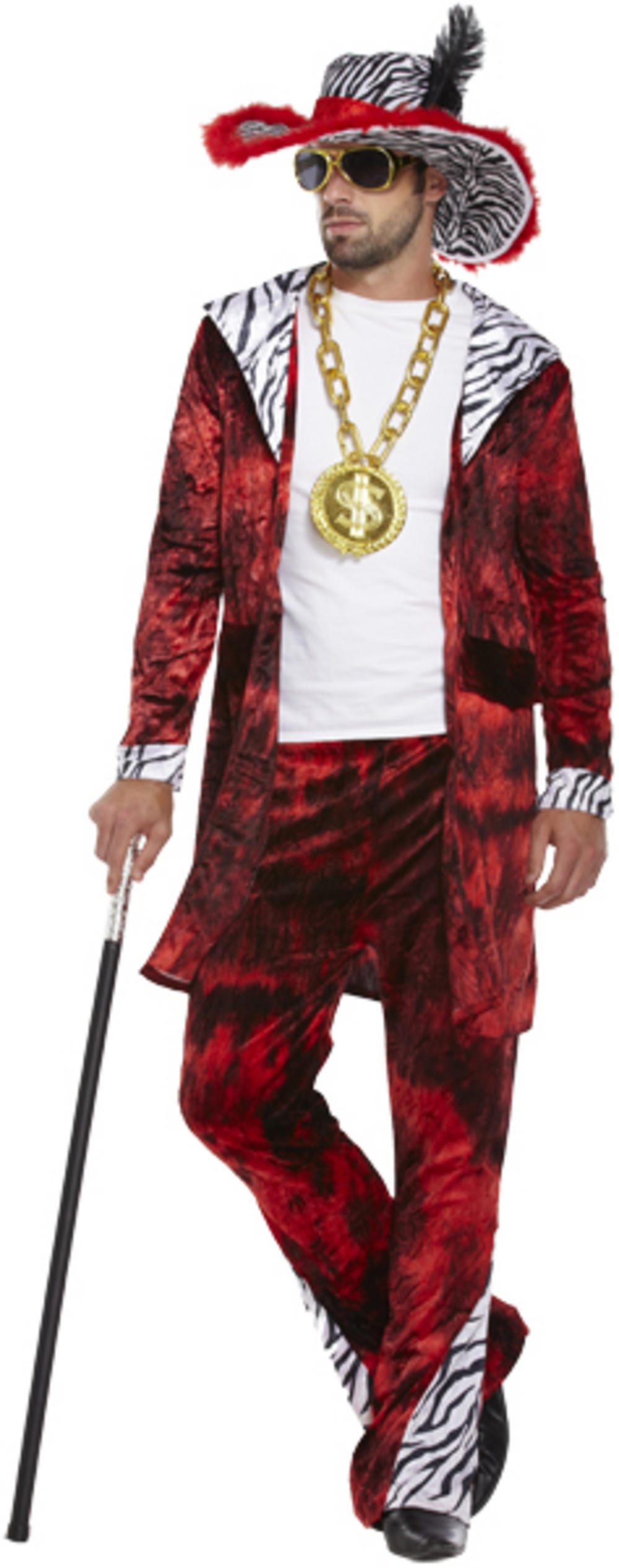 Big Daddy Red Pimp Costume