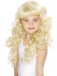 Girls Blonde Fairytale Princess Wig