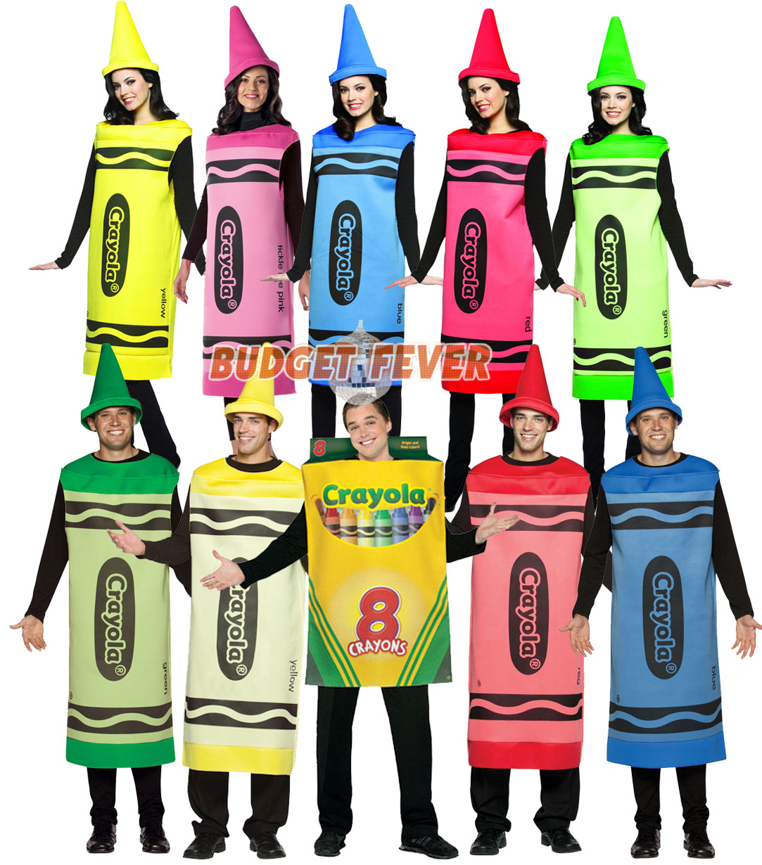 sentinel crayola crayon mens ladies fancy dress fun book week adult halloween costume - Crayola Halloween 2