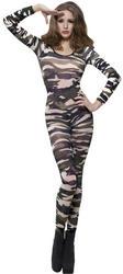 Camouflage Print Bodysuit Costume