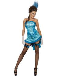 Lady Elegance Can Can Saloon Girl Costume