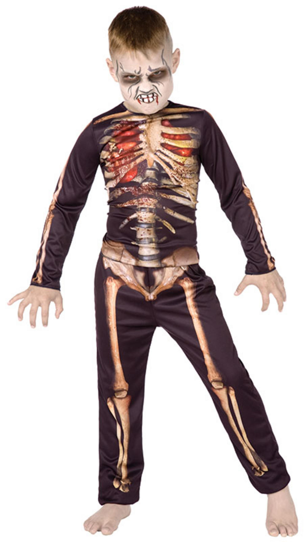 Kids 3D Skeleton Boy Halloween Costume | All Halloween | Mega Fancy ...