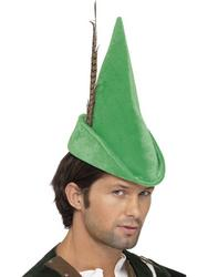 Deluxe Robin Hood Green Hat with Feather