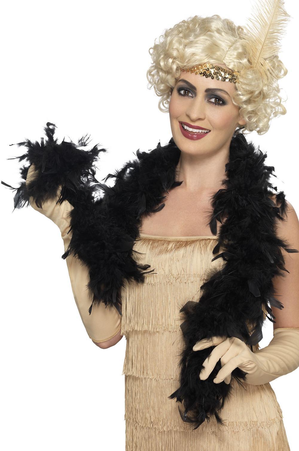 Black Feather Boa Accessory