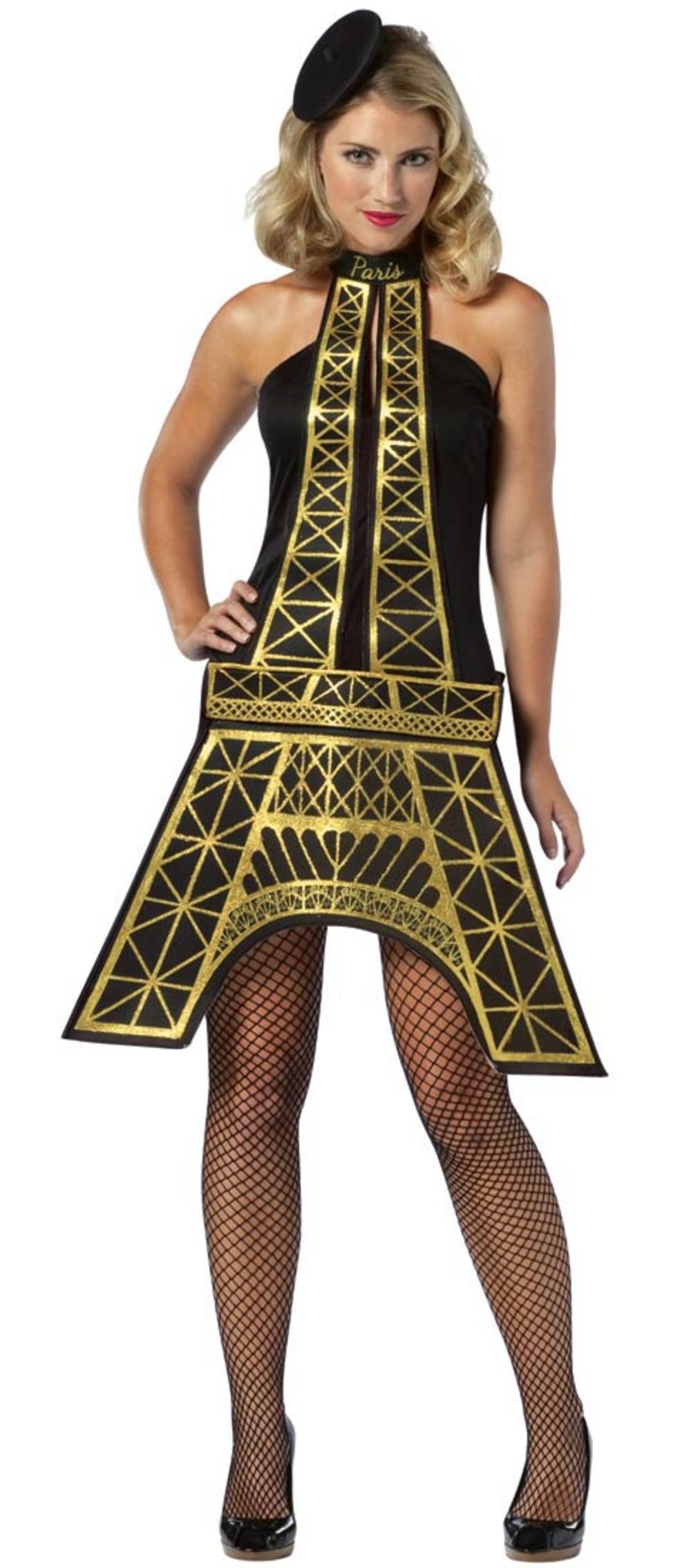 Ladies Eiffel Tower Dress Costume