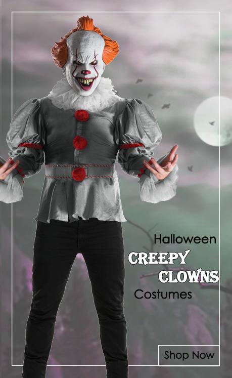 Creepy Clowns & Jesters Fancy Dress Costumes from Mega Fancy Dress