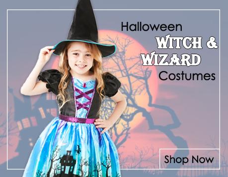 Witch & Wizard Fancy Dress Costumes from Mega Fancy Dress
