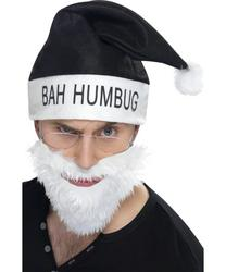 Bah Humbug Hat and Beard Christmas Set