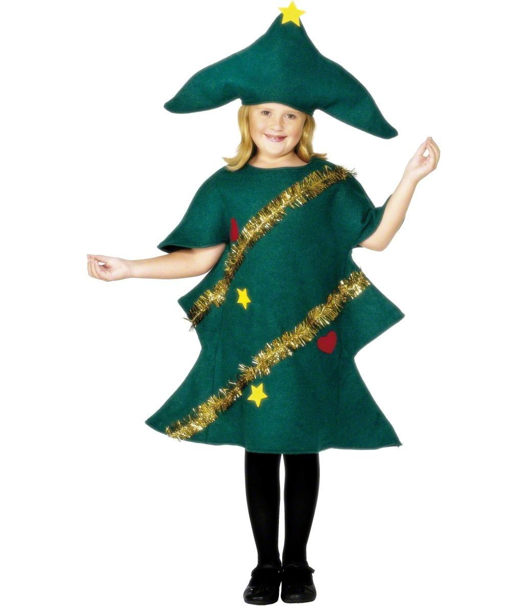 Kids Christmas Tree Fancy Dress Costume Christmas Clearance Mega