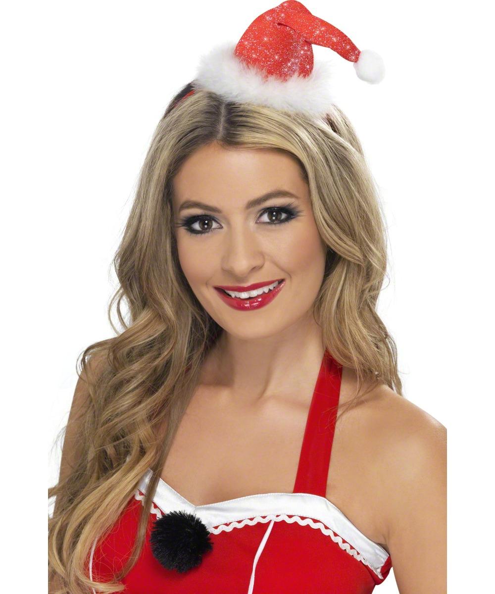 81f6f4a884e7a Deluxe Mini Santa Hat on Headband