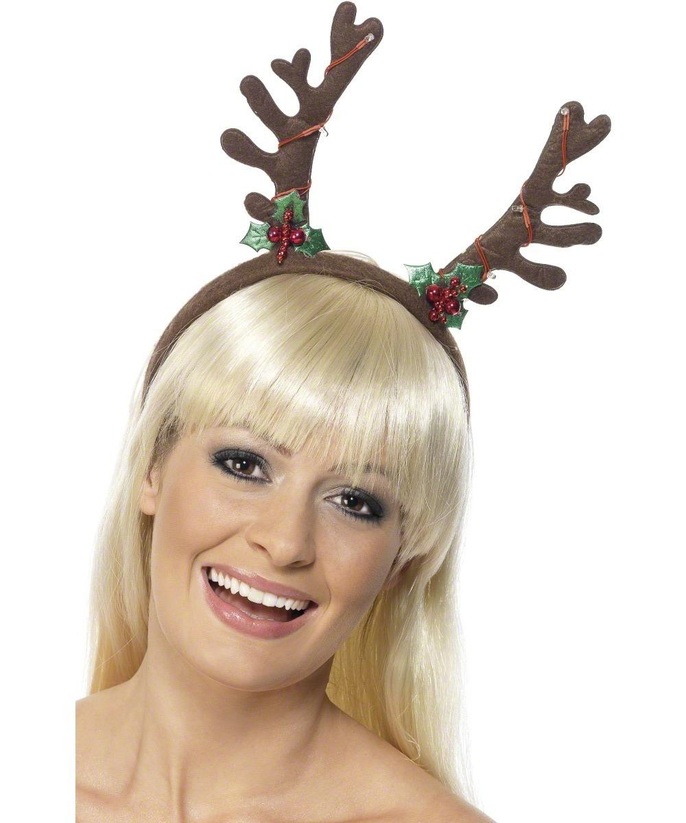 Christmas Flashing Antlers Headband