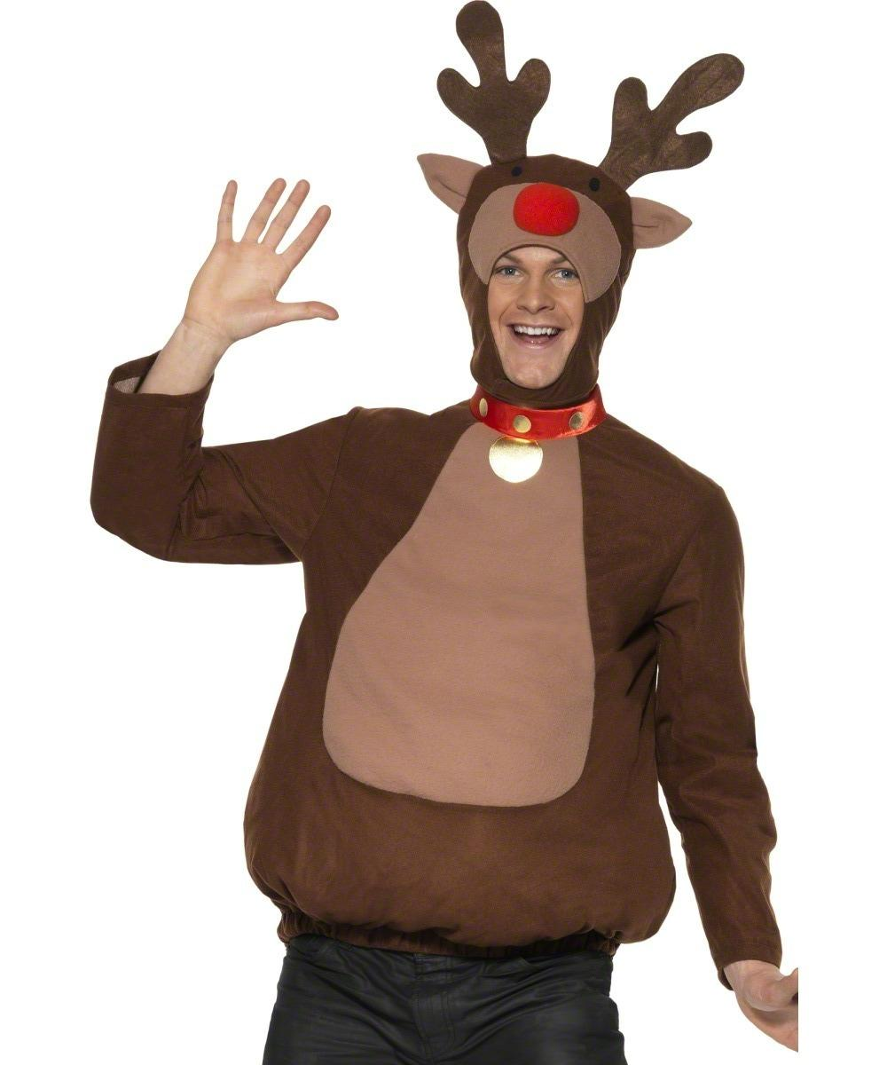Adult Christmas Reindeer Top Costume