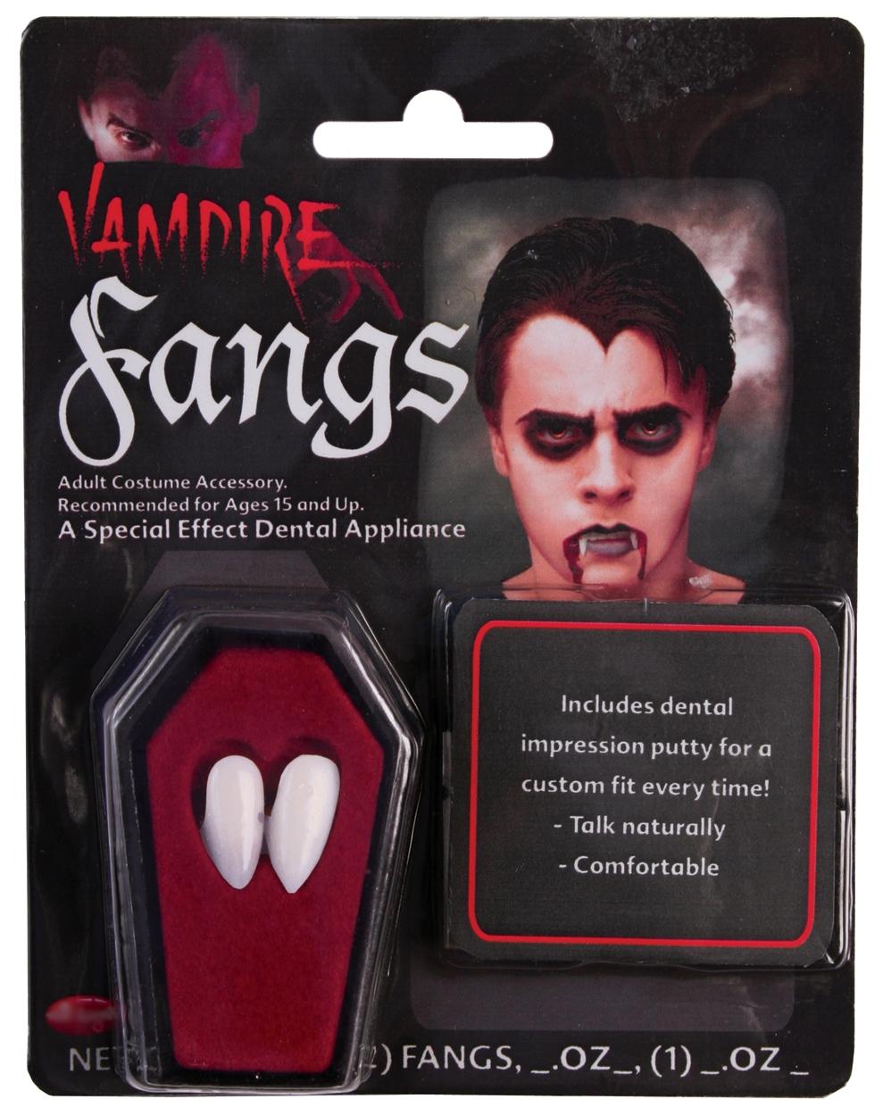 Putty Halloween Fancy Dress Dracula Adult Kids Costume Accessory Vampire Fangs
