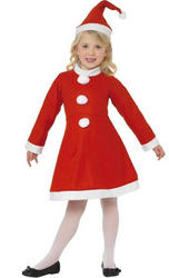 Kids Miss Santa Girl Christmas Costume
