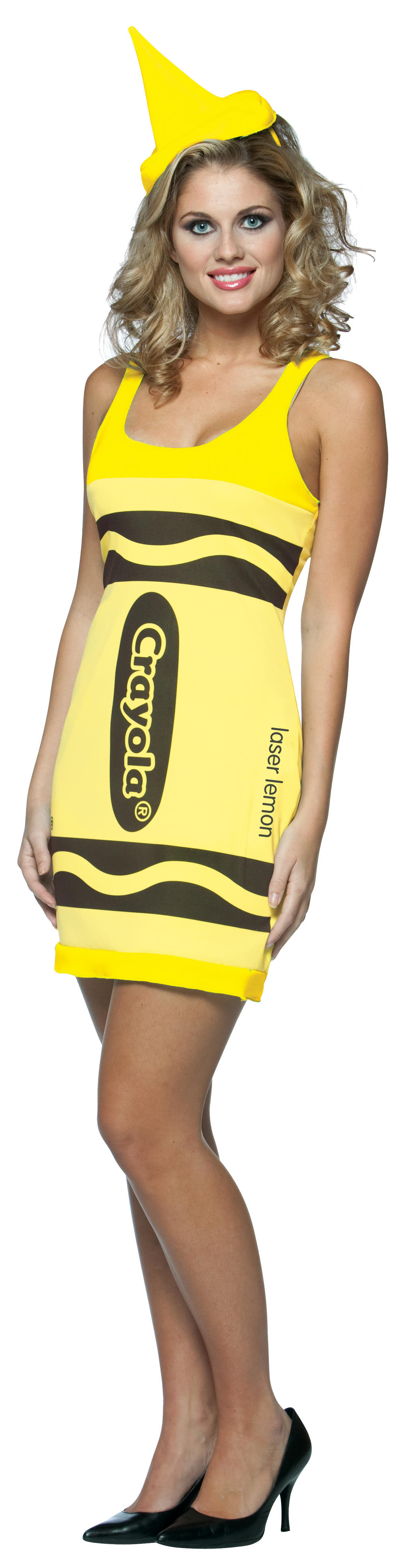 Neon Yellow Crayola Crayon Dress