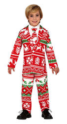 Kids Decorated Christmas Suit Costume