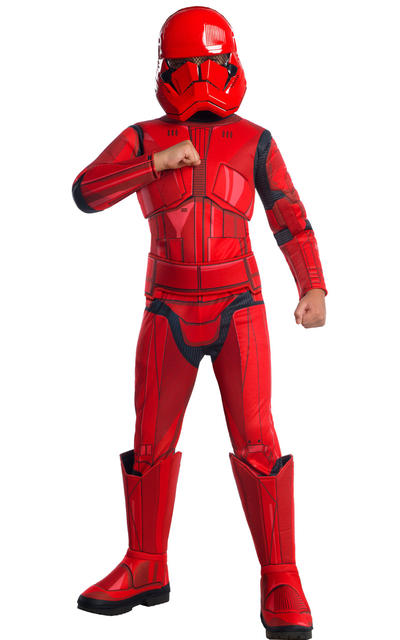 Deluxe Red Stormtrooper Boys Costume