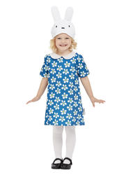 Girls Floral Miffy Costume