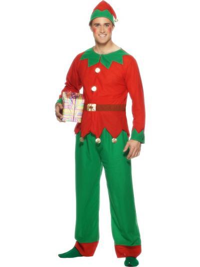 Adult's Christmas Elf Fancy Dress Costume