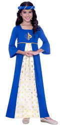 Blue Tudor Princess Girls Costume