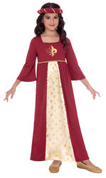 Red Tudor Princess Girls Costume