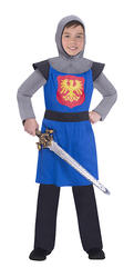 Blue Medieval Knight Boys Costume