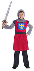 Red Medieval Knight Boys Costume