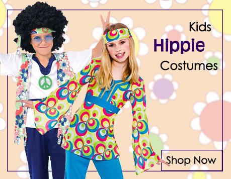 Kids Hippie Fancy Dress Costumes from Mega Fancy Dress