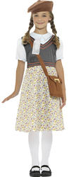 Evacuee Girls Fancy Dress Costume