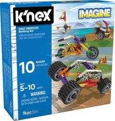 K'NEX Fast Vehicles 10 Model Building Set